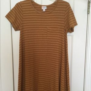 Lularoe XS Carly - Brown Striped